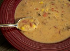 Santa Fe Soup from Food.com: This is so good! It's nice and cheesy and oh so easy to put together. Really good with slices of hot cornbread. I got this recipe from my Mother who is a wonderful cook. Cook time is time it takes to melt the cheese in the soup mixture.