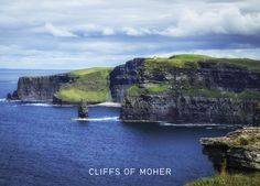 Cliffs of Moher Landscape Photos, Landscape Photography, Irish Greetings, Cliffs Of Moher, Dublin, Water, Bucket, Greeting Cards, Outdoor