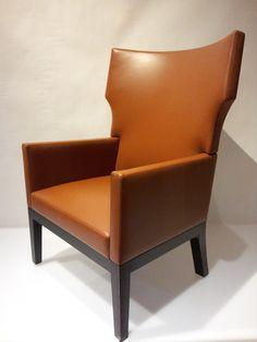 "Christian Liaigre ""Barbuda"" Leather Lounge Chair"