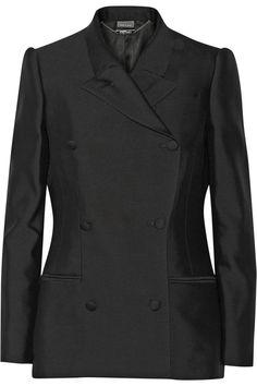 Alexander McQueen|Wool and silk-blend twill blazer|NET-A-PORTER.COM