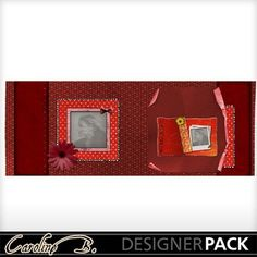 Digital Scrapbooking Kits   A Tomato Color FB Cover 4-(carolnb)   Boys, Calendars, Celebrations, Family, Holidays - Valentine's Day, Love   MyMemories
