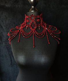 Shoulder Jewelry, Shoulder Necklace, Hair Jewelry, Body Jewelry, Fashion Jewelry, Lace Necklace, Neck Choker, Wedding Hair Accessories, High Fashion