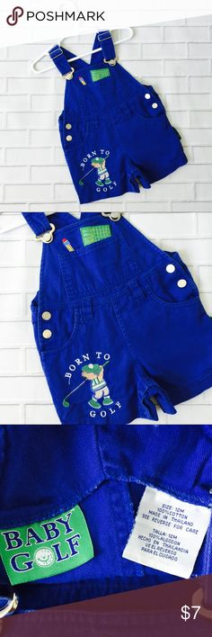 💥5 for $18💥 Boys Golf Baby Blue Overall Shorts 💥Like 5 items 💥Add to a bundle 💥Make bundle offer for $18  ▫️Brand: Golf Baby ▫️Size: 12M ▫️Material: Cotton ▫Condition: Preowned  ▫️Flaws: None  ▪️NO Trade/Hold ▪️Next Day Shipping ▪️Smoke Free/Kitty Friendly Home Golf Baby Bottoms Overalls