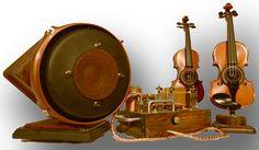 Vitalis Custom Audio Organic Sound HiFi Stereo Speakers   SteamPunk TubeAmp Viola 1.png.