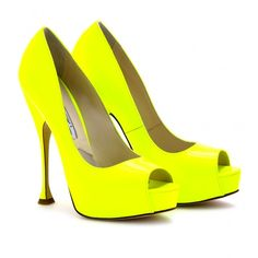 Brian Atwood neon yellow pumps