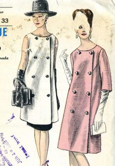 Vintage Vogue 6182 Misses Maternity Coat Dress, Tunic and Straight Skirt Sewing Pattern Size 10 Bust 31 Dress Making Patterns, Skirt Patterns Sewing, Vintage Dress Patterns, Skirt Sewing, Moda Vintage, Vintage Mode, Vintage Outfits, Vintage Dresses, 1960s Fashion