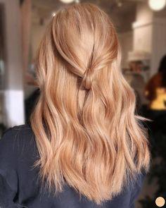 Hair Blond, Blond Ombre, Blonde Hair Looks, Reddish Blonde Hair, Strawberry Hair, Strawberry Blonde Hair Color, Strawberry Highlights, Peach Hair, Dye My Hair