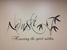 Namaste Quote Vinyl Wall Decal Home Decor. 45w x by VinylMyWalls, $35.00