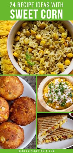 This collection of sweet corn recipes has both Indian and world cuisine represented. We will show you how to cook the recipe and hope you try each one and let us know which one you liked best! There are Indian side dish recipes, a few soup recipes, and recipes for a salad or two. Try them this week and tell us what recipe was your favorite! #Indianfood #worldcuisine #healthy #vegetarianrecipes #dinner #snack Veg Breakfast Recipes, Tasty Vegetarian Recipes, Veg Recipes, Cooking Recipes, Healthy Recipes, Kebab Recipes, Tasty Recipe, Cooking Tips, Snack Recipes