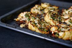 Roasted Cauliflower with Parmesan Parsley and Onions - Eat In My Kitchen