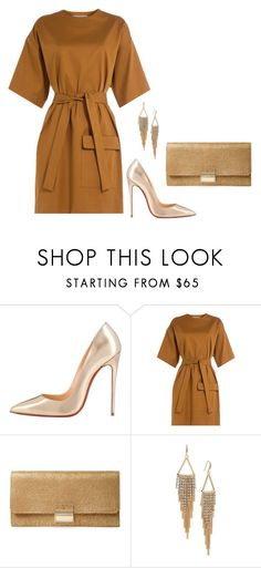 """""""Sem título #2714"""" by mprocedi ❤ liked on Polyvore featuring Christian Louboutin, MSGM, Furla and ABS by Allen Schwartz"""