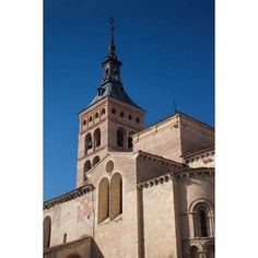 Plaza San Martin and San Martin Church Segovia Spain Canvas Art - Walter Bibikow DanitaDelimont (25 x 37)
