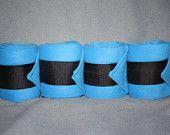 Bright Blue Polo Wraps (set of four)