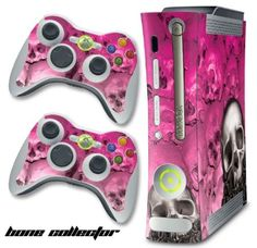 XBOX 360 Console Pink Skulls Design Decal Skin - System & Remote Controllers - BoneCollector - Pink $12.97 Amazing Discounts Your #1 Source for Video Games, Consoles & Accessories! Multicitygames.com Click On Pins For More Info