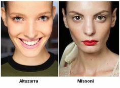 Red and pink lips for SS2015