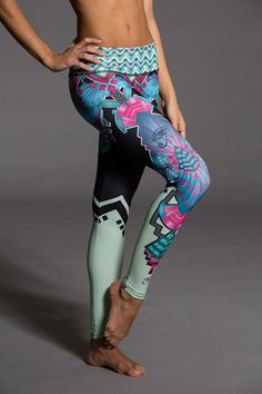 Onzies Graphic Cleo Legging is one of a kind. The legging blends art and fashion, the unique placement printing process of Onzies Graphic Legging is one of kind! These leggings are custom made and are