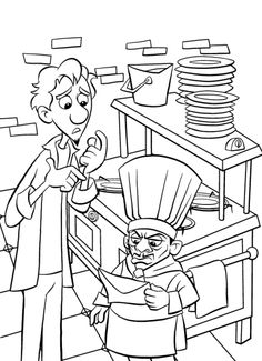 coloring page Ratatouille on Kids-n-Fun. At Kids-n-Fun you will always find the nicest coloring pages first! Disney Coloring Pages Printables, Abc Coloring Pages, Disney Printables, Coloring For Kids, Coloring Books, Coloring Sheets, Cartoon Characters Sketch, Character Sketches, Imprimibles Toy Story Gratis