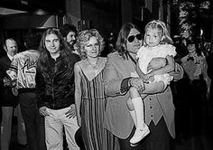 L to R: Jim Steinman, Leslie Aday, with her husband, Michael (Meat Loaf) Aday and daughter, Pearl.