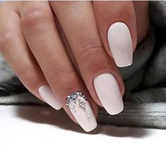 """Awesome """"top nail art designs"""" information is readily available on our website. Simple Wedding Nails, Wedding Manicure, Wedding Day Nails, Cute Nails, Pretty Nails, Hair And Nails, My Nails, Nail Jewels, Bride Nails"""