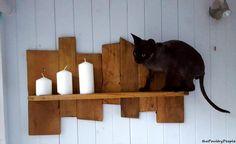 Antique Wooden Pallet Candle Shelf | Pallet Furniture