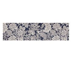 Layla Palampore Indoor/Outdoor Rug - Blue | Pottery Barn  2x3 and 2.5 x9