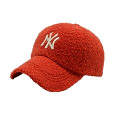 Red NY Cloth Baseball Hat — The Black Tailor Staple Pieces, Baseball Hats, Winter Hats, Fabric, Red, Clothes, Black, Fashion, Tejido