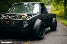 Volkswagen created this 1981 VW Caddy Sportruck by essentially taking a Golf and sticking a bed on it. Because of this it came with a small L engine and FWD. Vw R32, Volkswagen Golf Mk1, Volkswagen Karmann Ghia, Vw Touran, Volkswagen Transporter, Vw Rabbit Pickup, Vw Pickup, Vw Caddy Mk1, Ford V8