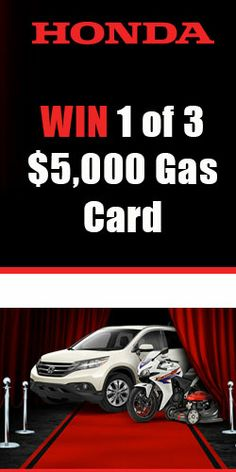 Win 1 of 3 $5,000 Gas Card