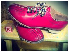Valentine Blood Red Bowling Shoes by AlleyOopVintage on Etsy, $35.00