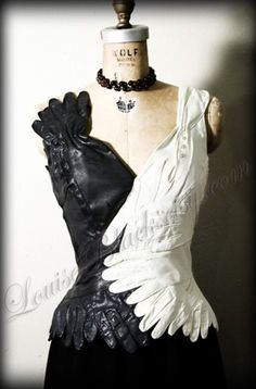 Glove dress neckline
