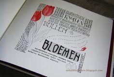 (Scroll down for English) Belofte maakt schuld. Vorige week heb ik hier verteld dat ik weer op kalligrafiecursus ben geweest, en daar hor...