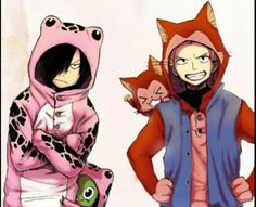 Sting, Rogue, funny, Frosch, Lector, costumes, cute, outfits; Fairy Tail