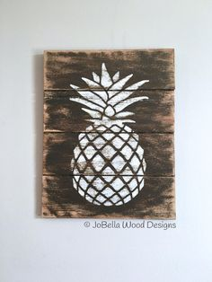 Free Shipping Pineapple Wood Wall Hanging by JoBellaWoodDesigns