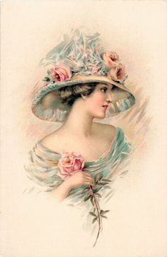 postcards photos Vintage lady