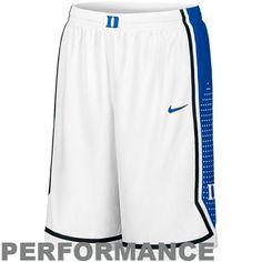 Nike Duke Blue Devils White Authentic Woven Player Basketball Performance Shorts — Sportmarker Shop Lebro James, Duke Shorts, Duke Blue Devils, Basketball, Nike, Mesh, Gift Ideas, Shopping, Fun