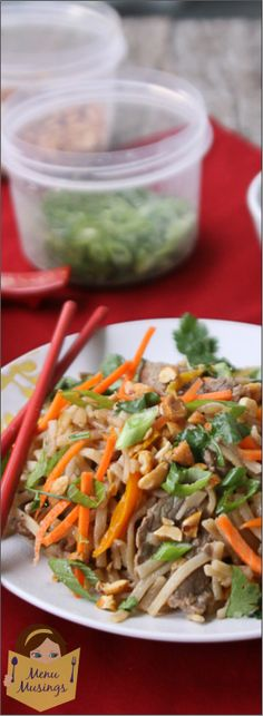 """Hoisin Beef with Rice Noodles and a topping """"buffet"""".... step-by-step, fresh and light with huge flavors... family favorite!!  <3 <3"""
