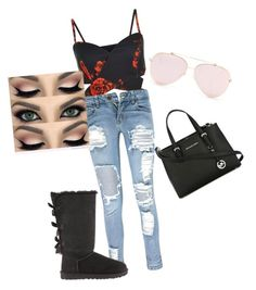 """Untitled #18"" by alevsumer on Polyvore featuring Boohoo, UGG and MICHAEL Michael Kors"