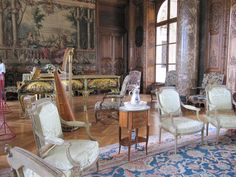 Chateau de Bizy interior , France