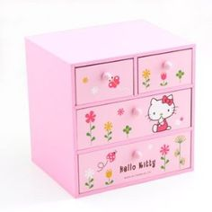 Hello Kitty Storage Box: Flowers