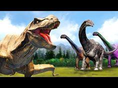 Dinosaur Cartoon For Children | Dinosaurs Songs | Rhymes For Children | Preschool Learning Rhymes - YouTube