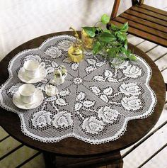 White Crochet Napkin Crochet Table Doily Handcrafted Home Decor Delicate Lace Crochet Doilies Tablecloth Crochet Doily Home Decor (78.00 USD) by DoliaGalinaCrochet