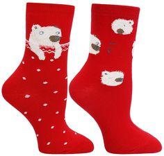 Women's Cozy Cotton Animal Design Crew Socks 2 Pairs