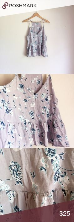 Urban Outfitters Floral Chiffon Ruffle Cropped Top A breezy, dreamy, lightweight top by Kimchi Blue from Urban Outfitters with allover floral print. Brand new without tags! Urban Outfitters Tops Crop Tops