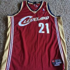 Mens Cleveland Cavs basketball 21 Miles jersey Mens Cleveland Cavs 21 Miles jersey Other