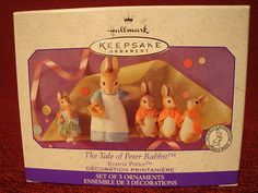 The Tale Of Peter Rabbit Ornament Set - Easter collectible ornaments