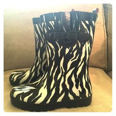 Capelli Rain boots Zebra print waterproof Capelli Shoes Winter & Rain Boots