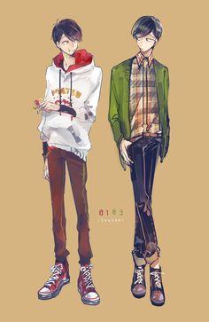ภาพที่ถูกฝังไว้ Cartoon Outfits, Anime Outfits, Dark Anime Guys, Anime Love, Osomatsu San Doujinshi, Ichimatsu, Cartoon Games, My Chemical Romance, Me Me Me Anime