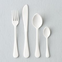 """Whether dressed up for a dinner party or used daily, these flatware sets enhance the table with an unexpected finish of copper or enamel.- Set of four utensils - Stainless steel, copper or enamel finish - Dishwasher safe - ImportedKnife: 1""""W, 8.5""""L Soup spoon: 1.75""""W, 7""""L Teaspoon : 1.25""""W, 5""""L Dinner Fork: 1""""W, 7.5""""L"""