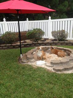 Backyard Dog Area, Dog Friendly Backyard, Backyard Landscaping, Landscaping Ideas, Backyard Seating, Outdoor Dog Area, Inexpensive Landscaping, Backyard Fences, Outdoor Play
