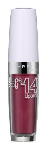 Maybelline Superstay 14H Lipstick 190 Pink 3.5 g The  Maybelline  New York Super Stay offers the highest wearing comfort and up to 14 hours long-lasting hold.  The Super Stay 14H lipstick with innovative color-capsule technology ensures a brilliant color luster that keeps super long.   The secret:  An ultra-light texture includes the pigments, whereby the lipstick melts into the lips.  Without complaining, without drying and without getting lost.   Tip for thin lips:  It is